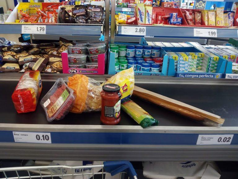 cinta caja supermercado