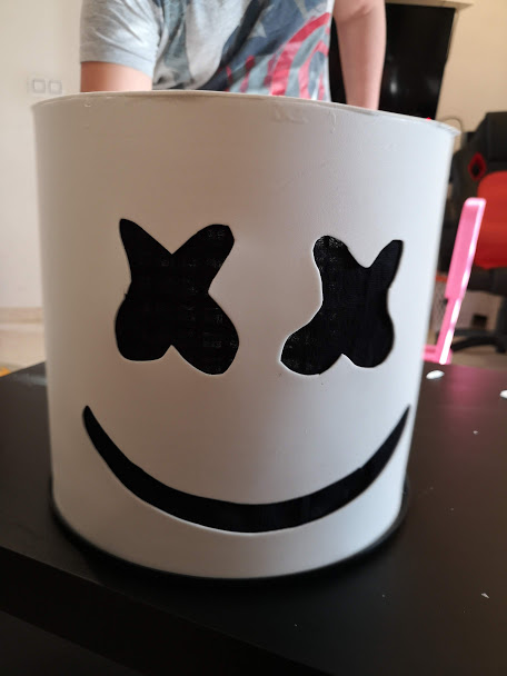 Cómo Hacer La Máscara De Marshmello De Fornite Con Goma Eva