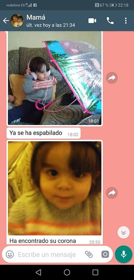 niña whatsapp conversacion